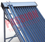 20 Tubes Heat Pipe Thermal Solar Collector Flat Roof Assembly For Room Heating
