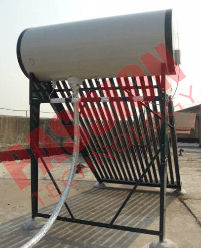 Pressurized Solar Water Heater System With 20 Tubes Stainless Steel Reflector Frame