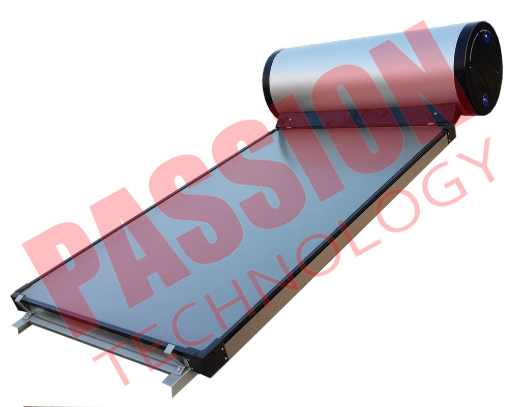 Flat Plate Collector Solar Water Heater / Thermal Hot Water Heater Direct Plug Connection