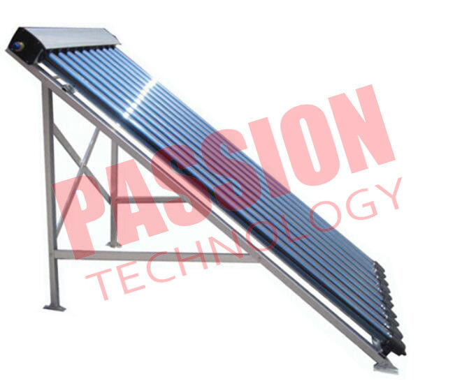15 Tubes Pressurized Solar Collector , Solar Heat Pipe Collector For Hotel