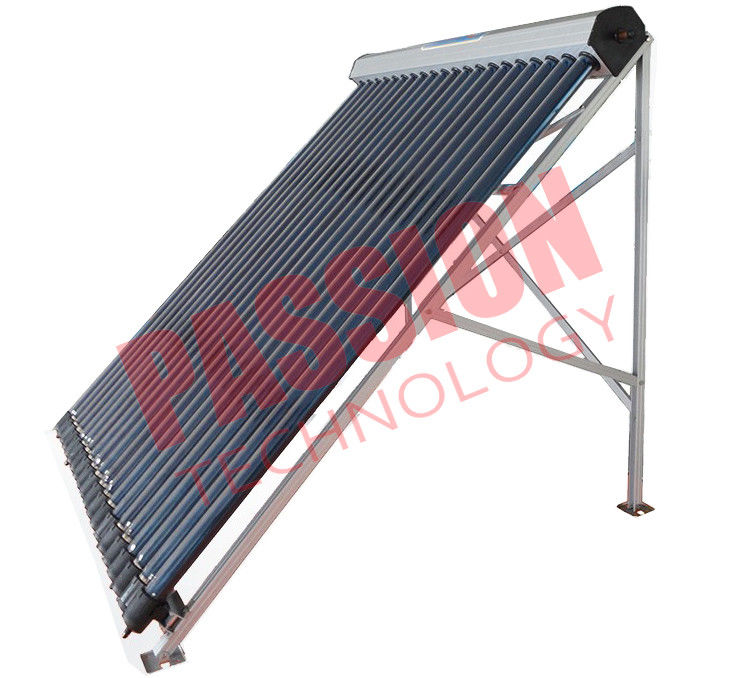 Heat Pipe Solar Power Collector , Solar Water Collector For Shower 24 Tubes