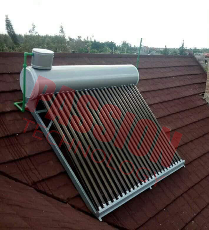 CE Approved Vacuum Tube Solar Water Heater Open Loop with Assistant Tank
