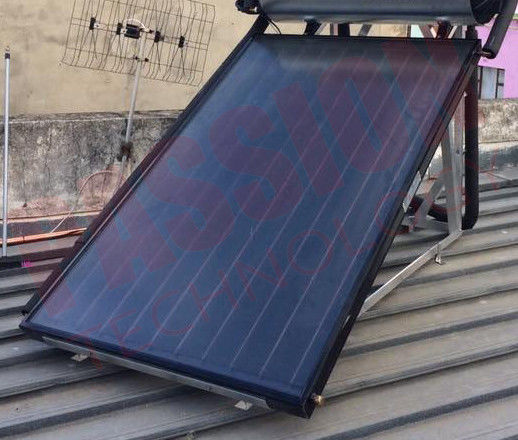 Flat Panel Solar Collector Blue Coating Flat Plate Solar Water Collectors