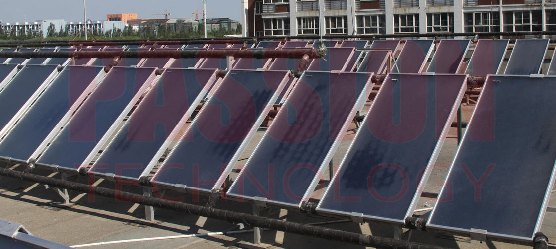 6000L Centralized Flat Plate Solar Water Heater Solar Thermal Flat Plate Solar Collector